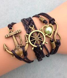 bracelet-ancre-marine-et-gouvernail